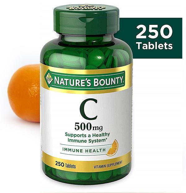 Viên Uống Nature's Bounty Vitamin C Immune Health 500mg tăng cường Vitamin C
